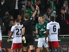 Zweimal Rot, ungültiges Traumtor: HSV zieht in wildem Nordderby an Bremen vorbei