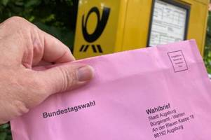 fast 75.000 personen wollen in augsburg per briefwahl abstimmen