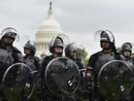 vier festnahmen bei demo am us-kapitol