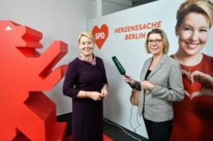 Wahlen in Berlin: SPD-Spitzenkandidatin Franziska Giffey im Video-Interview
