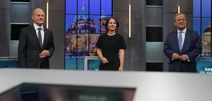 Triell Bundestagswahl 2021: Olaf Scholz und Annalena Baerbock gegen ArminLaschet