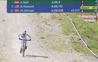 Salzburgerin Höll gewann sensationell Downhill-Weltcup