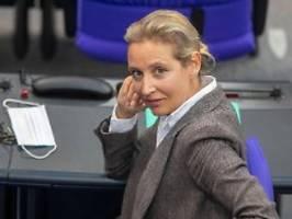 Nach Parteispende an AfD: Strafverfahren gegen Weidel wird eingestellt