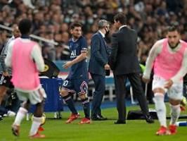 Sein Gesicht sagte alles: Motzender Messi kassiert Ansage vom Trainer