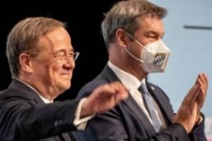 Newsblog: Wahlkampf: Laschet und Söder sehen Union in einer Aufholjagd