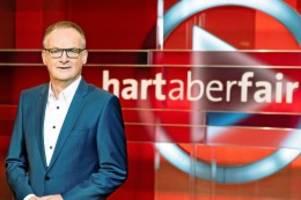 ARD-Talk: Hart aber fair: Diese Gäste sind am Montagabend dabei