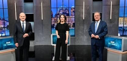 Annalena Baerbock, Olaf Scholz und Armin Laschet im TV-Triell: »Der ganze Auftritt wirkte wie eine Probe für Koalitionsverhandlungen«