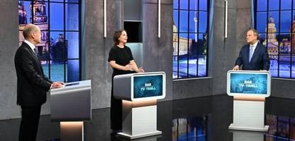 TV-Triell: Olaf Scholz überzeugt auch im dritten Triell die meisten Zuschauer - Umfrage