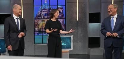 TV-Triell: Scholz und Baerbock gegen Laschet