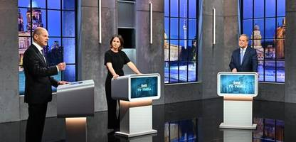 tv-triell zur bundestagswahl: annalena baerbock, armin laschet und olaf scholz im faktencheck