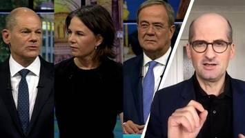 Diese Tricks im TV-Triell mit Laschet,  Baerbock und Scholz gingen schief