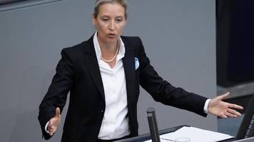 Strafverfahren gegen AfD-Politikerin Alice Weidel eingestellt