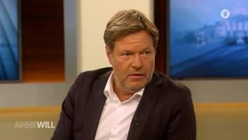 """Bei """"Anne Will"""" - Grünen-Chef Habeck stichelt gegen Scholz: """"Halte ihn für einen fähigen Bürgermeister"""""""
