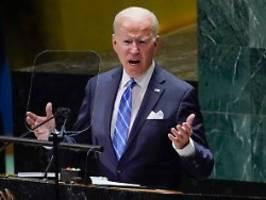 Unerbittliche Diplomatie: Biden zieht vor UN rote Linien neu
