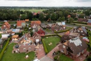 Unwetter: Aurich: 75.000 Euro Spenden für Geschädigte des Tornados