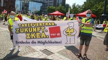 Warnstreik: Tarifkonflikt im Einzelhandel – Ikea-Mitarbeiter treten in Ausstand