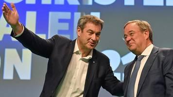 Bundestagswahl 2021   Umfrage: Söder hat Laschet nicht gut genug unterstützt