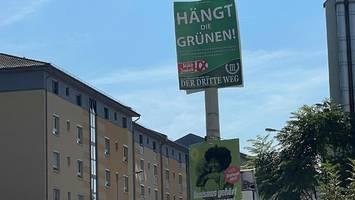 Sachsen: Hängt die Grünen-Plakate müssen runter