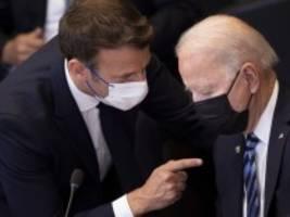 Diplomatie: Biden und Macron wollen sich Ende Oktober in Europa treffen