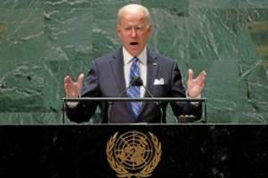 USA: UN-Rede von Joe Biden: Wie viel Trump steckt in ihm?