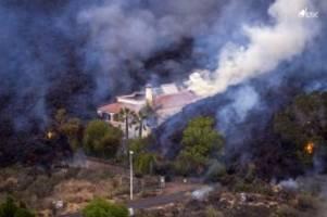Naturkatastrophe: Vulkanausbruch auf Kanaren: Hier verschlingt Lava ein Haus