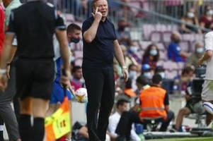 Trainer Koeman verliest Erklärung und bittet um Geduld