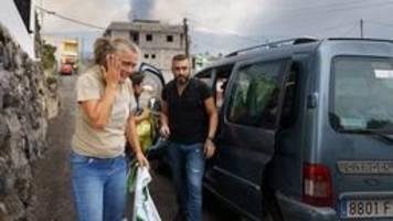 bilder: flucht vor den lavamassen auf la palma