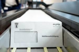 wahlen: briefwahl in berlin: das müssen sie wissen