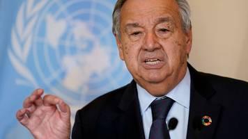 UN: Guterres und Johnson machen vor Klimakonferenz Druck