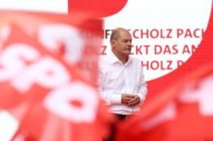 Bundestag: Olaf Scholz: Letzter Wahlkampfauftritt im Wahlkreis