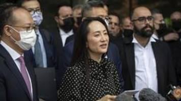 einigung mit us-justiz: huawei-managerin meng kommt frei