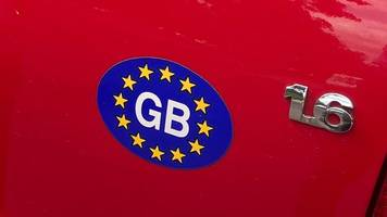 Nach dem Brexit - Symbol für Union: UK statt GB auf britischen Autos