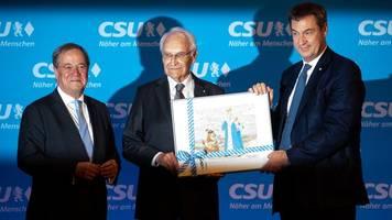 ehemaliger csu-chef: laschet und söder feiern leben und leistung edmund stoibers