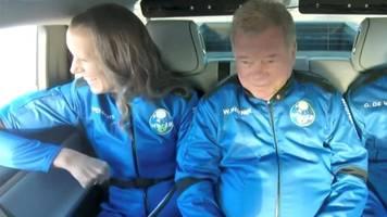 live | william shatner: star trek-ikone fliegt als ältester mensch ins all