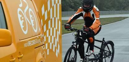 windschattenfahren: radsportler bricht deutschlandrekord