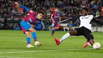 La Liga: Ex-Bayern-Star Coutinho trifft für Barcelona bei Sieg gegen Valencia