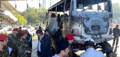 Syrien: Viele Tote bei Anschlag auf Soldaten und Angriff in Rebellengebiet