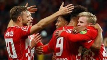 fußball bundesliga: mainz überrollt augsburg mit 4:1