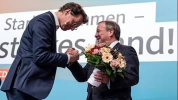 NRW-CDU wählt Hendrik Wüst zum neuen Vorsitzenden: Nachfolger von Armin Laschet