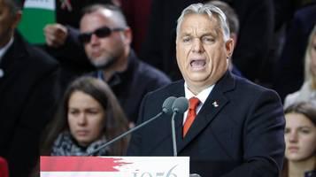 Ungarn: Viktor Orbán eröffnet Wahlkampf – und wettert gegen EU
