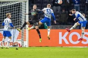 Hertha aus der Krise: Sieg verdirbt Gladbachs Pokal-Probe