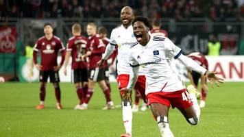 HSV gewinnt DFB-Pokal-Zitterduell gegen Nürnberg